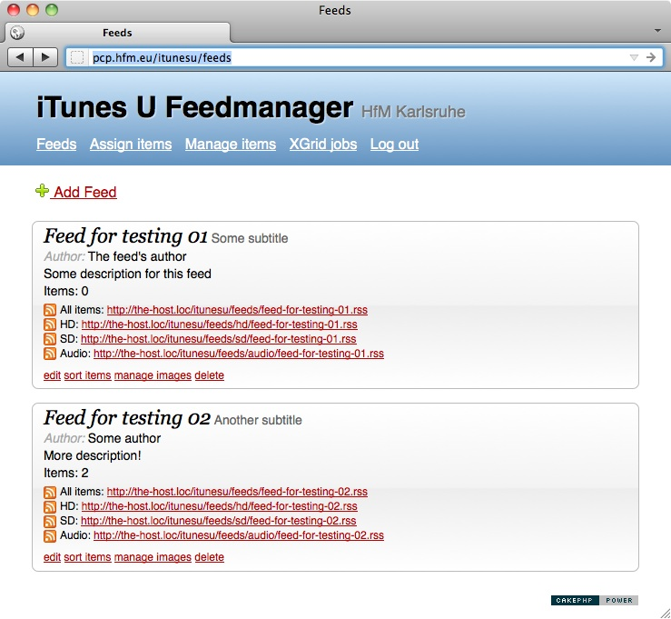 Feedmanager Feeds