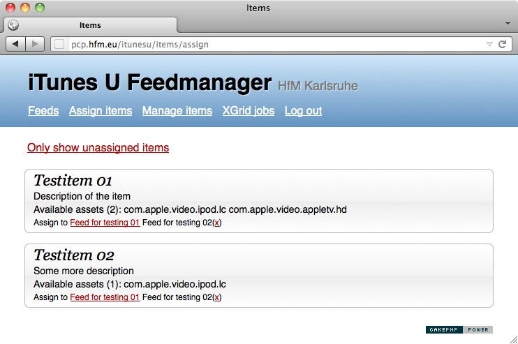 Feedmanager Assign