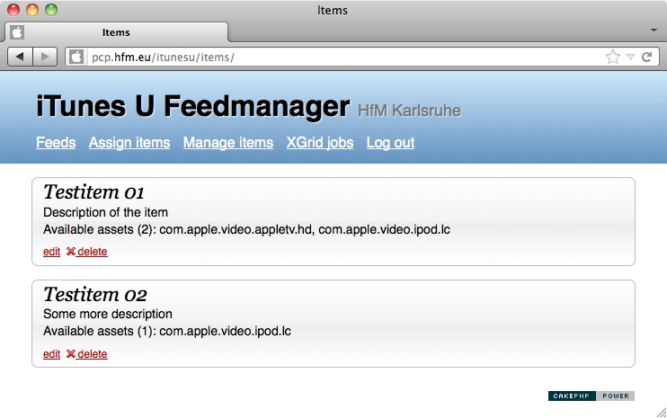 Feedmanager Items